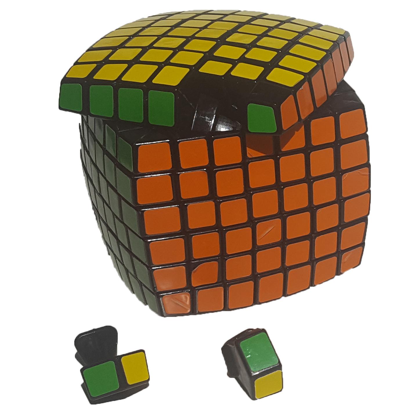 verdes 7x7 rubik's cube popping
